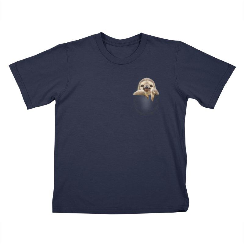POCKET SLOTH Kids T-shirt by gallerianarniaz's Artist Shop