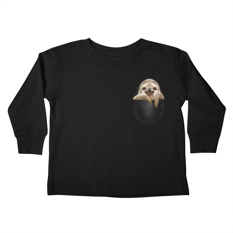 POCKET SLOTH Kids Toddler Longsleeve T-Shirt by gallerianarniaz's Artist Shop