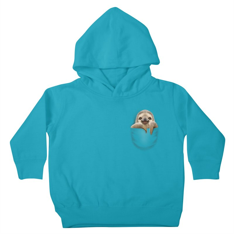 POCKET SLOTH Kids Toddler Pullover Hoody by gallerianarniaz's Artist Shop