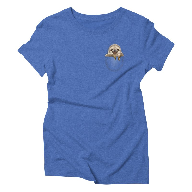 POCKET SLOTH Women's Triblend T-shirt by gallerianarniaz's Artist Shop