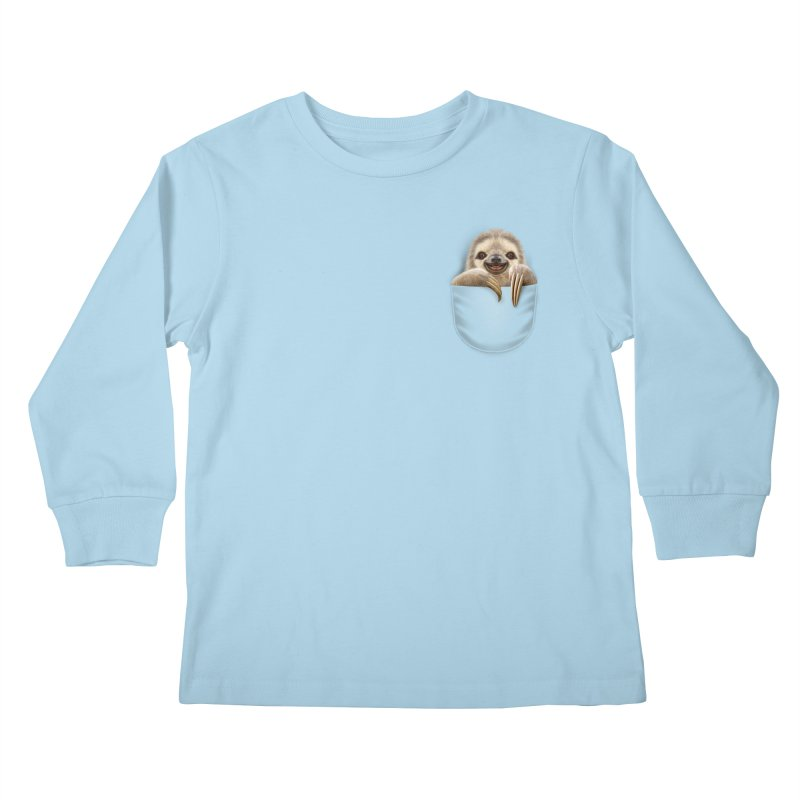 POCKET SLOTH Kids Longsleeve T-Shirt by gallerianarniaz's Artist Shop