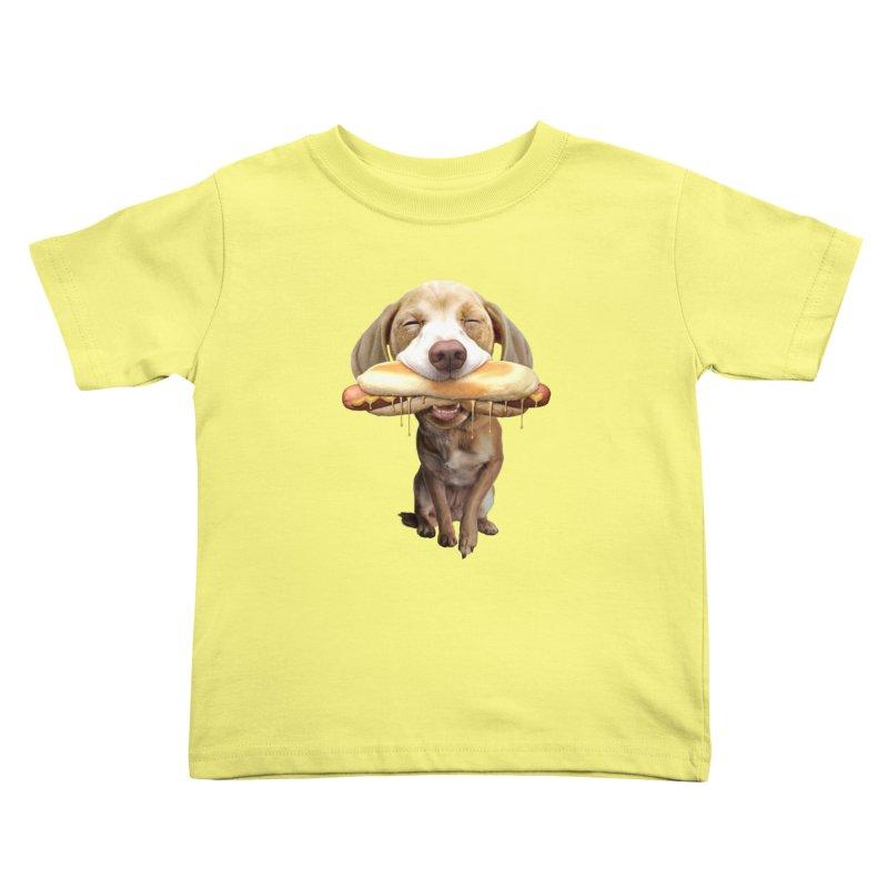HOTDOG Kids Toddler T-Shirt by gallerianarniaz's Artist Shop