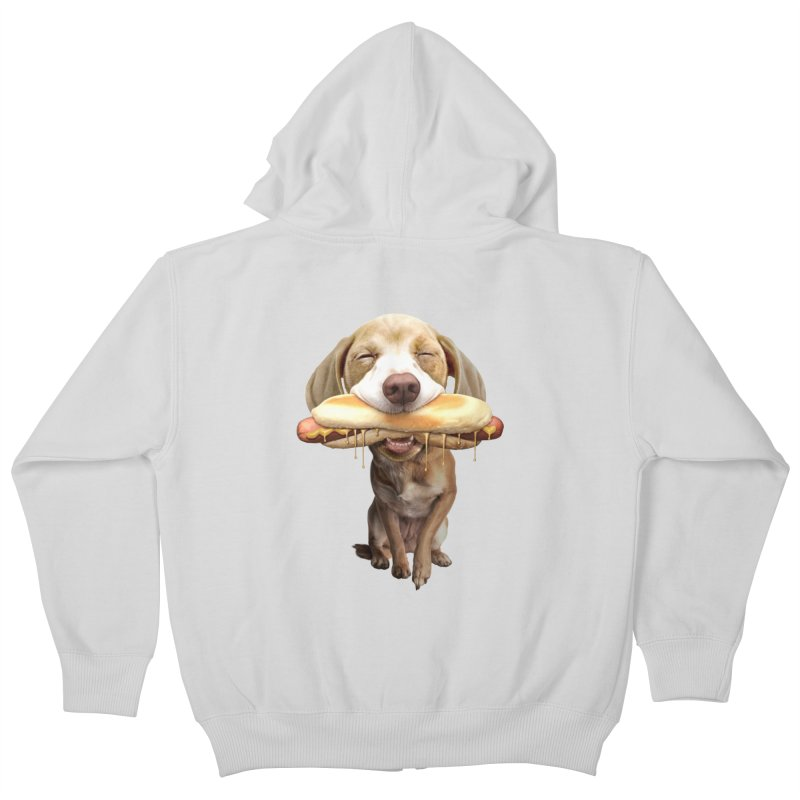 HOTDOG Kids Zip-Up Hoody by gallerianarniaz's Artist Shop