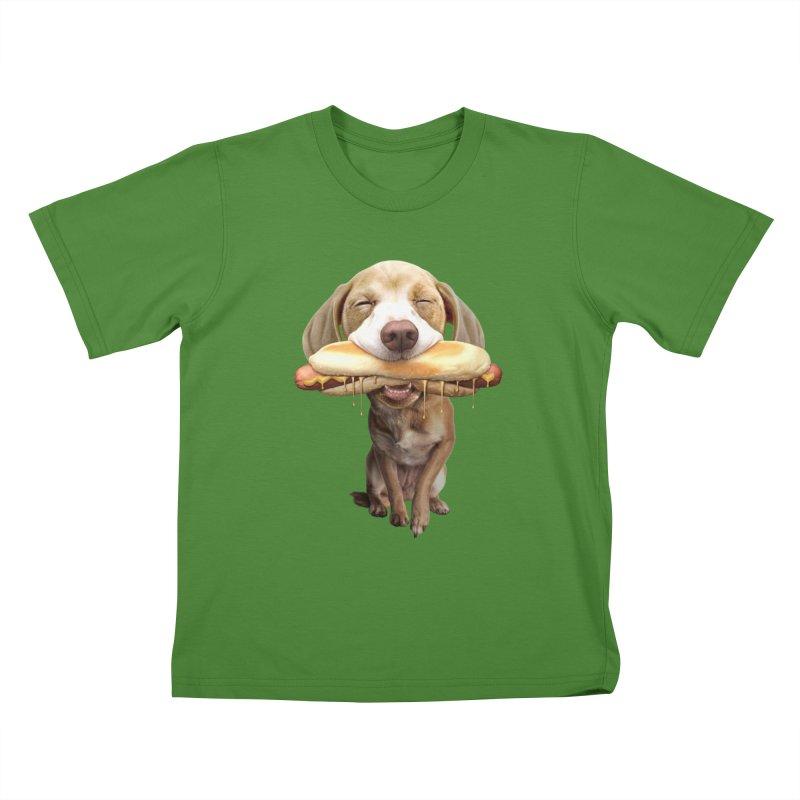 HOTDOG Kids T-shirt by gallerianarniaz's Artist Shop