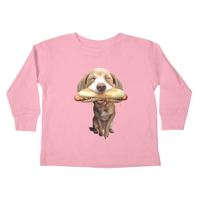 HOTDOG Kids Toddler Longsleeve T-Shirt by gallerianarniaz's Artist Shop