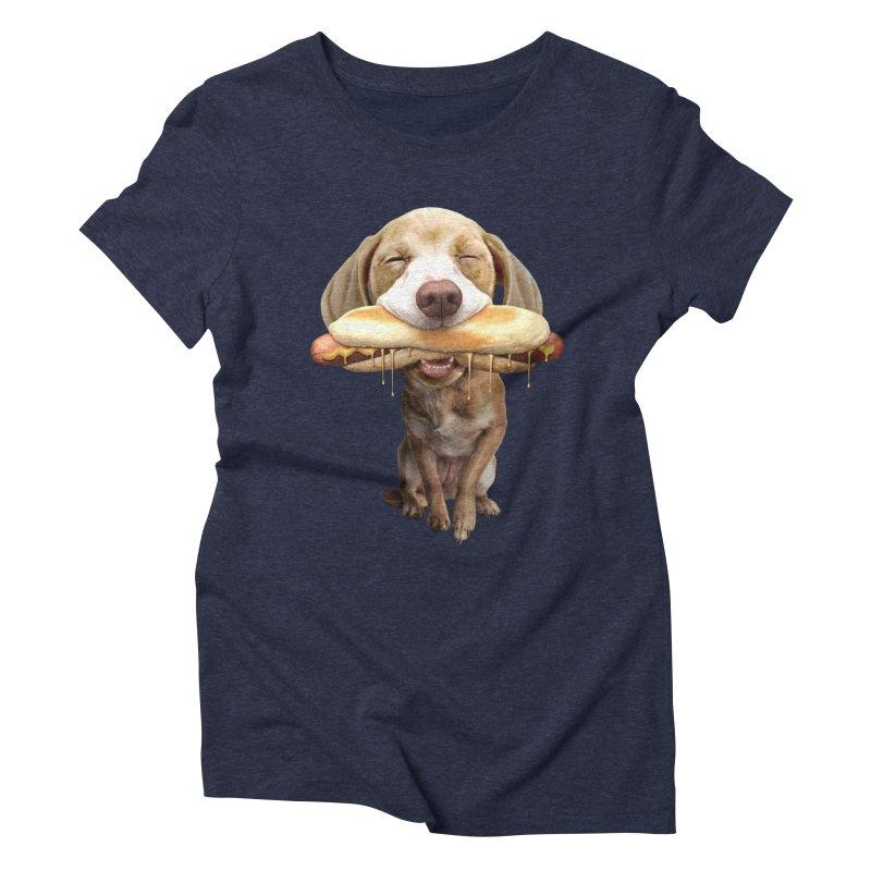 HOTDOG Women's Triblend T-shirt by gallerianarniaz's Artist Shop