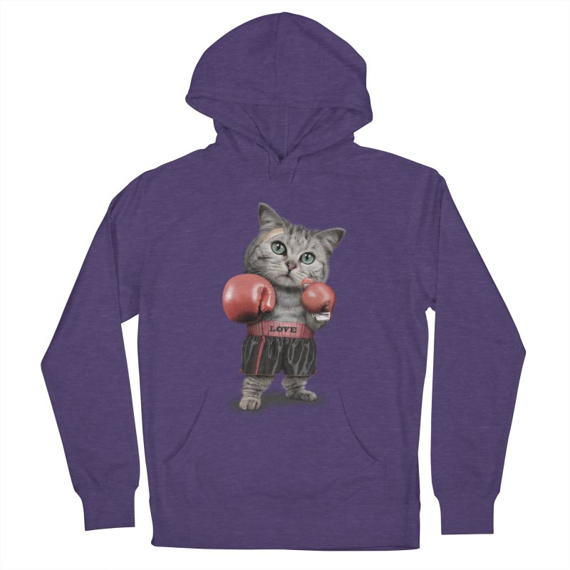 BOXING CAT Women's Pullover Hoody by gallerianarniaz's Artist Shop