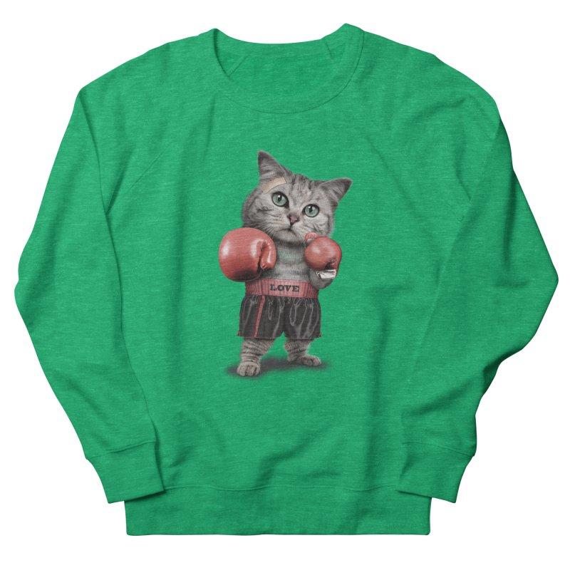BOXING CAT Women's Sweatshirt by gallerianarniaz's Artist Shop