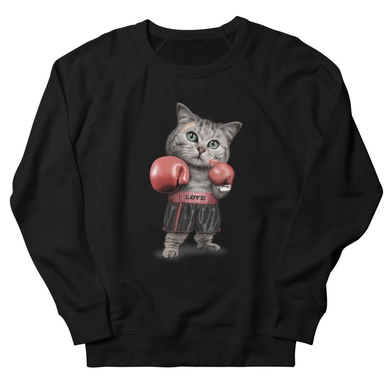 BOXING CAT Women's Sweatshirt by gallerianarniaz's Artist Shop