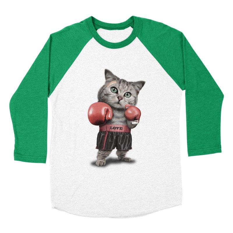 BOXING CAT Women's Baseball Triblend T-Shirt by gallerianarniaz's Artist Shop