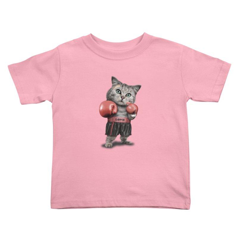 BOXING CAT Kids Toddler T-Shirt by gallerianarniaz's Artist Shop