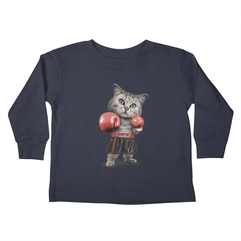 BOXING CAT Kids Toddler Longsleeve T-Shirt by gallerianarniaz's Artist Shop