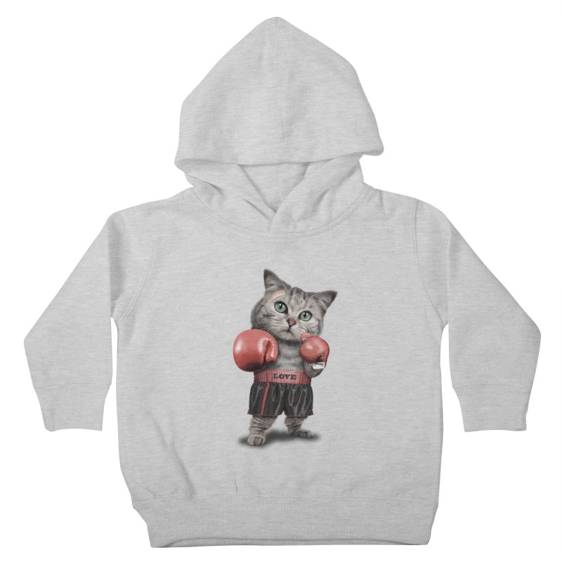 BOXING CAT Kids Toddler Pullover Hoody by gallerianarniaz's Artist Shop