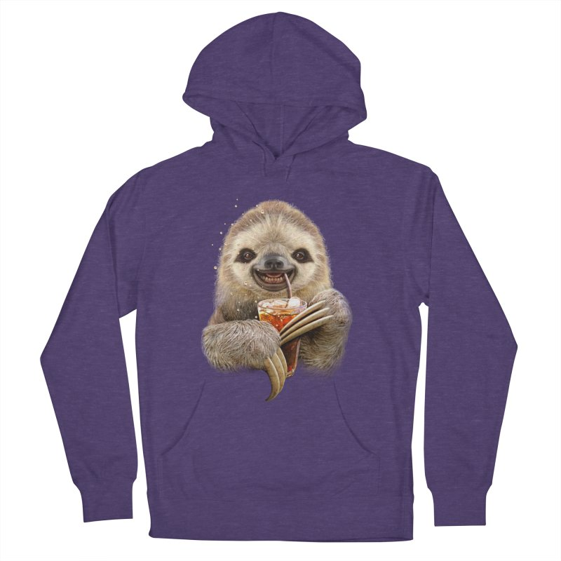 SLOTH & SOFT DRINK Women's Pullover Hoody by gallerianarniaz's Artist Shop