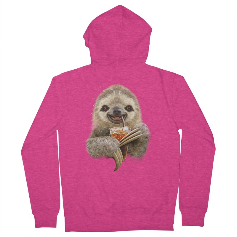 SLOTH & SOFT DRINK Women's Zip-Up Hoody by gallerianarniaz's Artist Shop