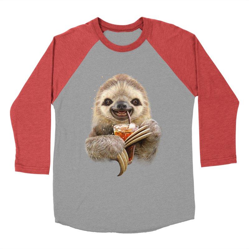 SLOTH & SOFT DRINK Women's Baseball Triblend T-Shirt by gallerianarniaz's Artist Shop