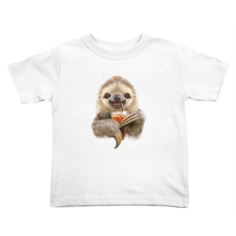 SLOTH & SOFT DRINK Kids Toddler T-Shirt by gallerianarniaz's Artist Shop