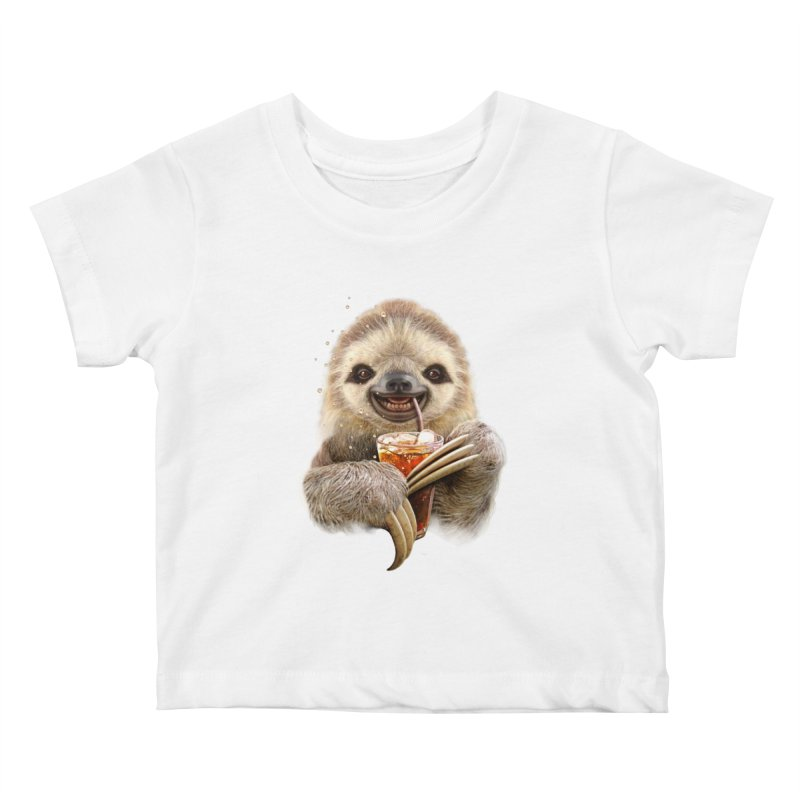 SLOTH & SOFT DRINK   by gallerianarniaz's Artist Shop