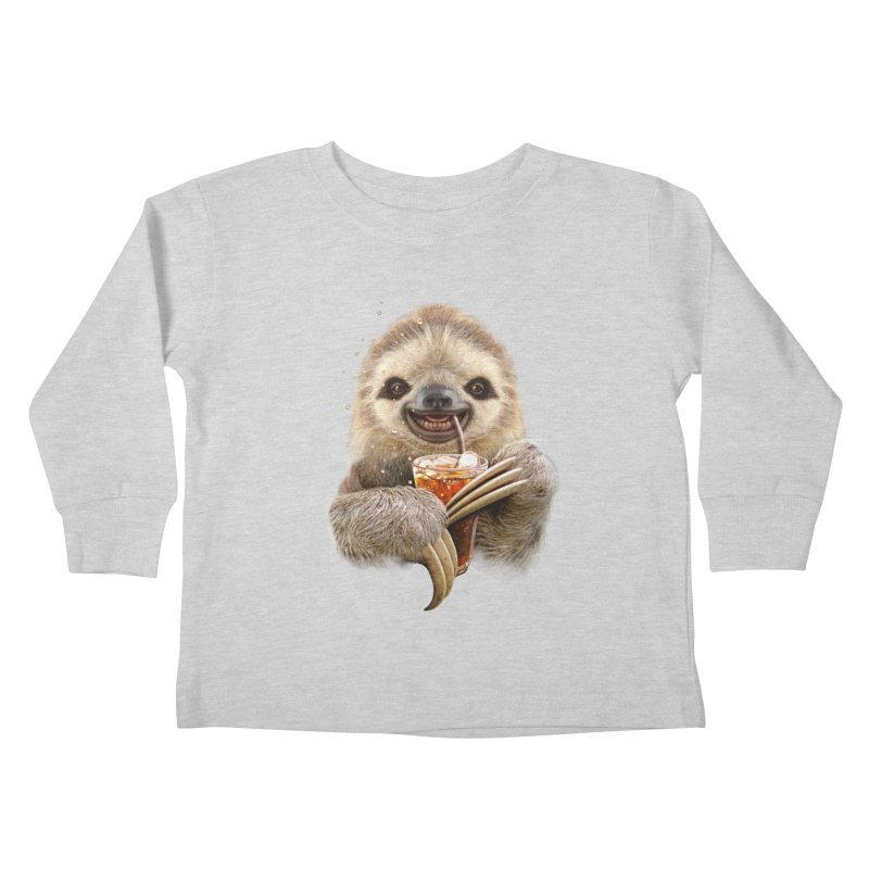 SLOTH & SOFT DRINK Kids Toddler Longsleeve T-Shirt by gallerianarniaz's Artist Shop
