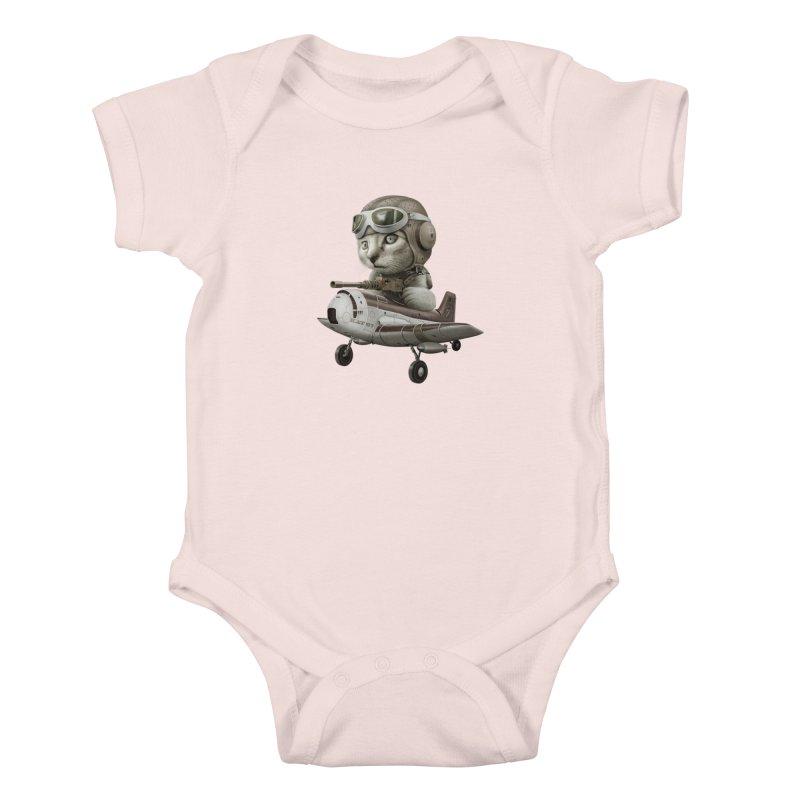 KAT67 Kids Baby Bodysuit by gallerianarniaz's Artist Shop