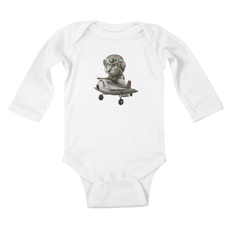 KAT67 Kids Baby Longsleeve Bodysuit by gallerianarniaz's Artist Shop
