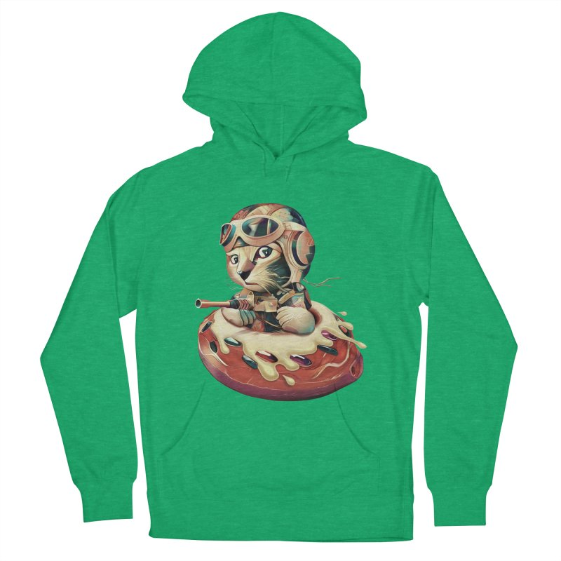DONUT FIGHTER Women's Pullover Hoody by gallerianarniaz's Artist Shop