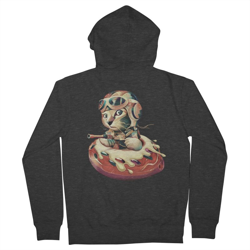DONUT FIGHTER Women's Zip-Up Hoody by gallerianarniaz's Artist Shop