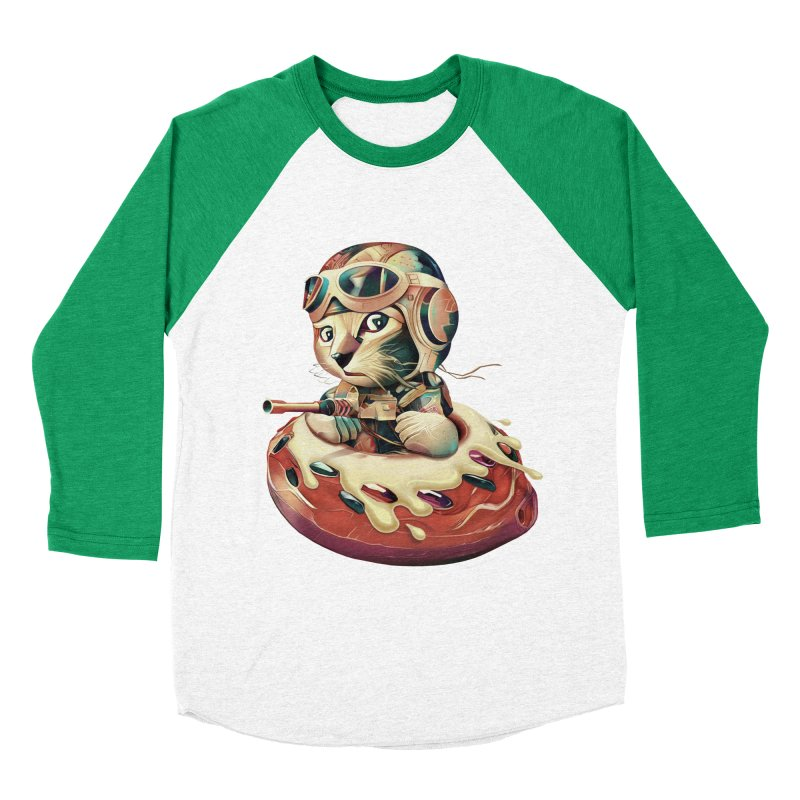 DONUT FIGHTER Women's Baseball Triblend T-Shirt by gallerianarniaz's Artist Shop