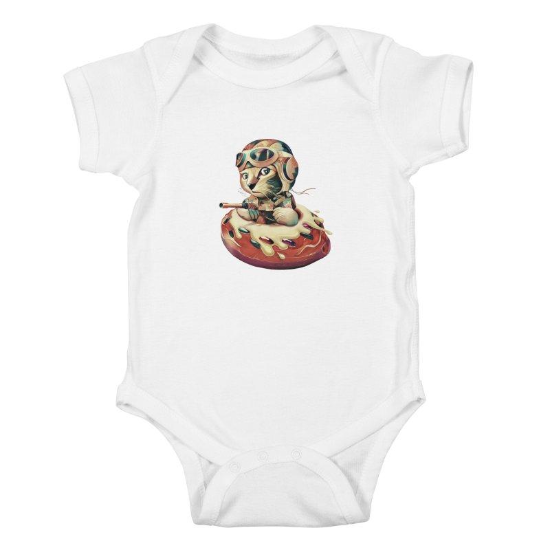 DONUT FIGHTER Kids Baby Bodysuit by gallerianarniaz's Artist Shop
