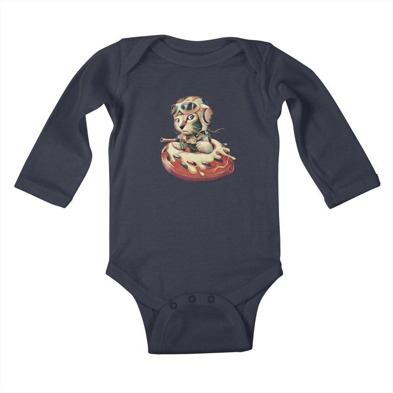 DONUT FIGHTER Kids Baby Longsleeve Bodysuit by gallerianarniaz's Artist Shop