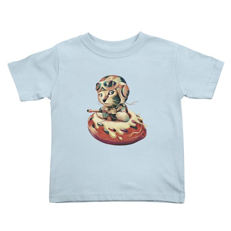 DONUT FIGHTER Kids Toddler T-Shirt by gallerianarniaz's Artist Shop