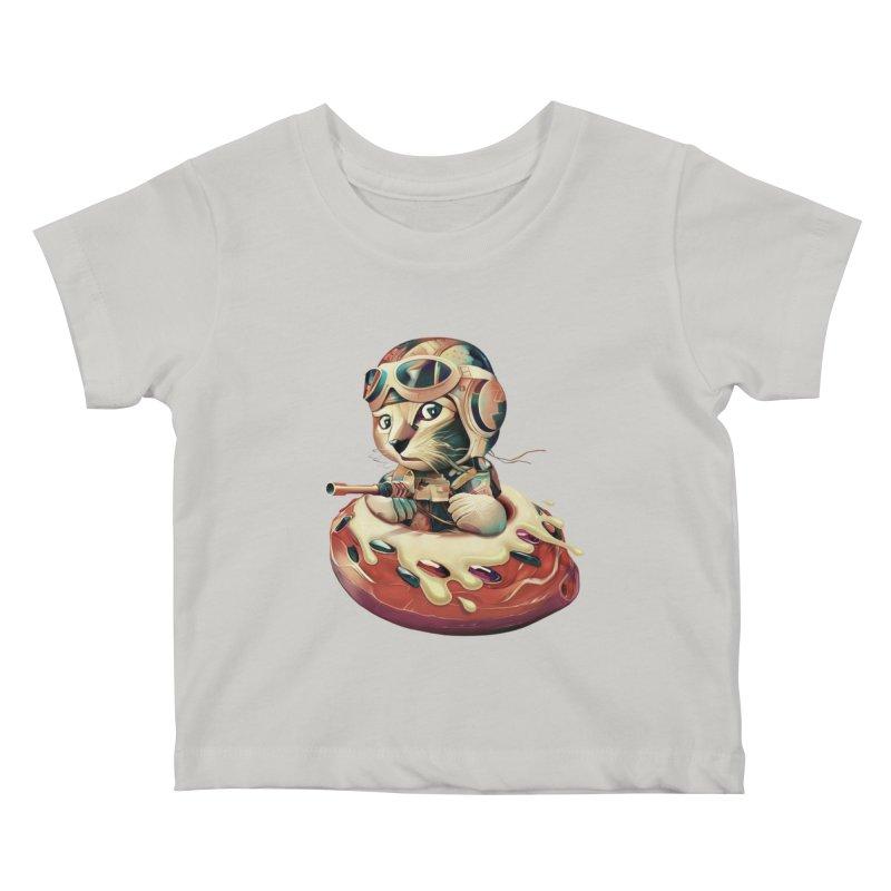 DONUT FIGHTER Kids Baby T-Shirt by gallerianarniaz's Artist Shop