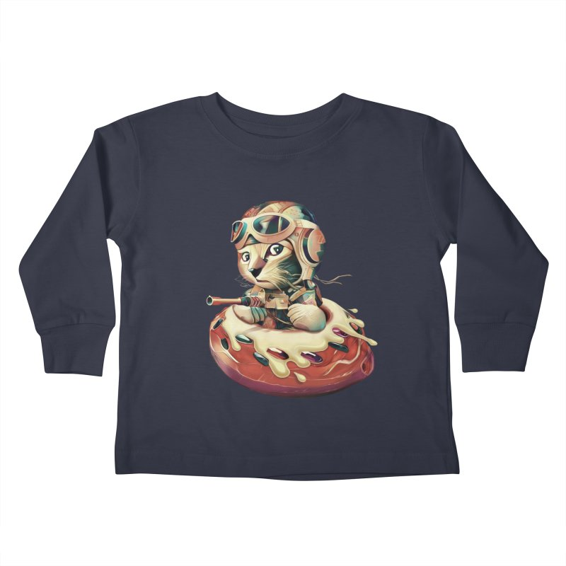 DONUT FIGHTER Kids Toddler Longsleeve T-Shirt by gallerianarniaz's Artist Shop