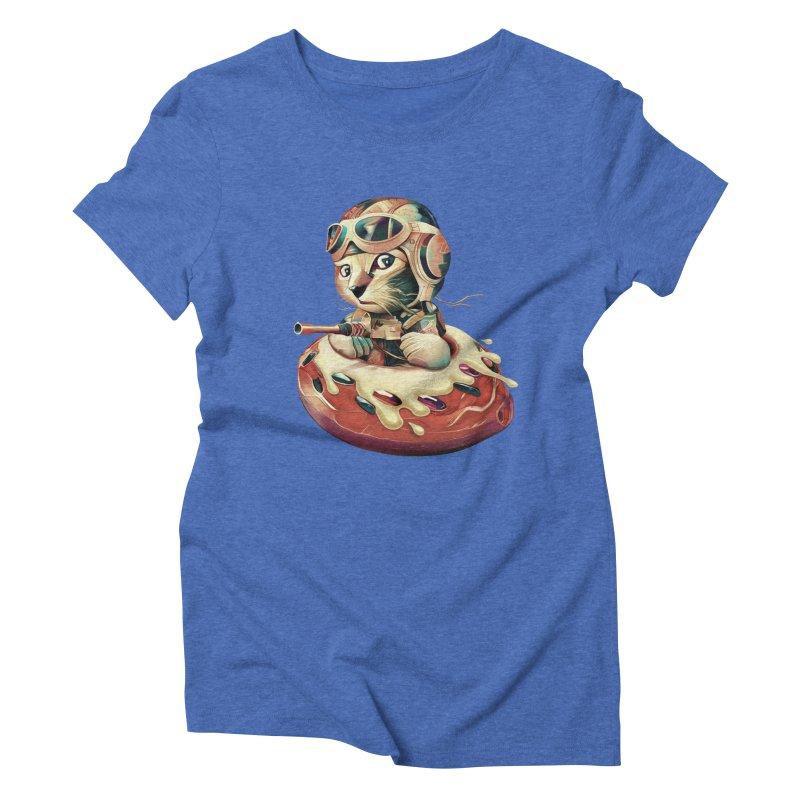 DONUT FIGHTER Women's Triblend T-Shirt by gallerianarniaz's Artist Shop