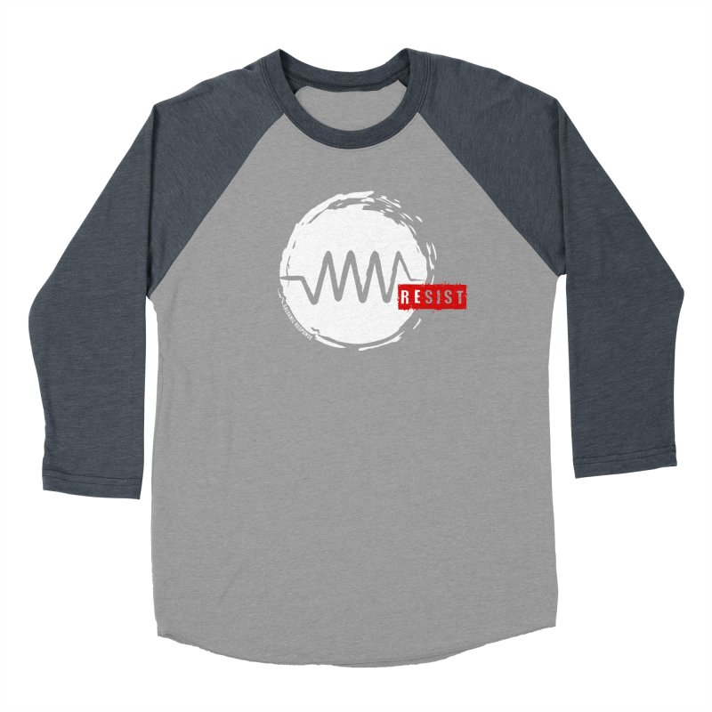 Resist Women's Baseball Triblend Longsleeve T-Shirt by Resist Symbol