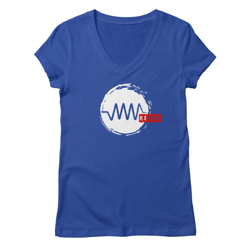 Resist Women's Regular V-Neck by Resist Symbol