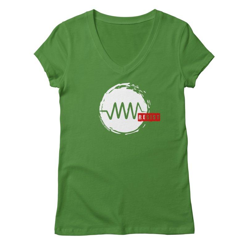 Resist Women's Regular V-Neck by Resist Symbol