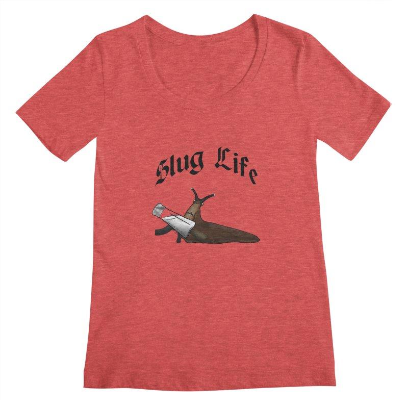 Slug Life Women's Scoopneck by Gamble's Artist Shop