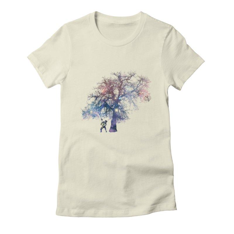 Earth Arrogance Women's Fitted T-Shirt by Gamble's Artist Shop