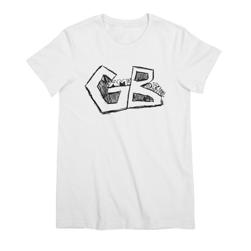 GameBr8ker Scribble Women's Premium T-Shirt by GameBr8ker Artist Shop