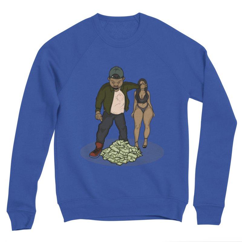 No Love But Money Men's Sponge Fleece Sweatshirt by GameBr8ker Artist Shop