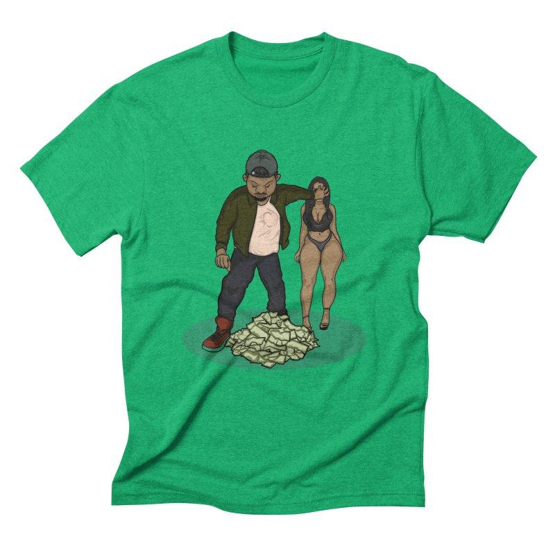 No Love But Money Men's Triblend T-Shirt by GameBr8ker Artist Shop