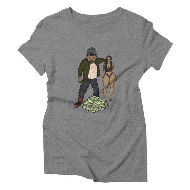 No Love But Money Women's Triblend T-Shirt by GameBr8ker Artist Shop