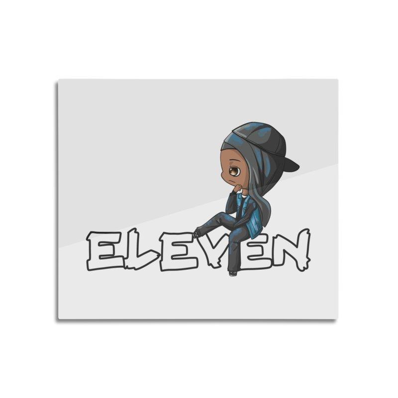 Eleven Home Mounted Aluminum Print by GameBr8ker Artist Shop