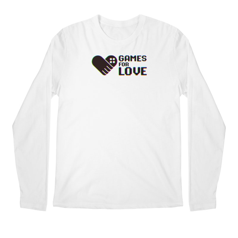 Men's GFL Logo w/ Side Text- Color Men's Longsleeve T-Shirt by Games For Love