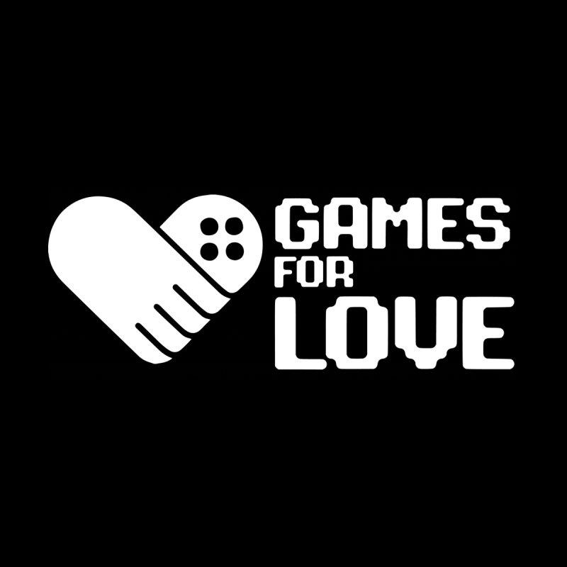 Men's GFL Logo w/ Side Text- White Men's T-Shirt by Games For Love