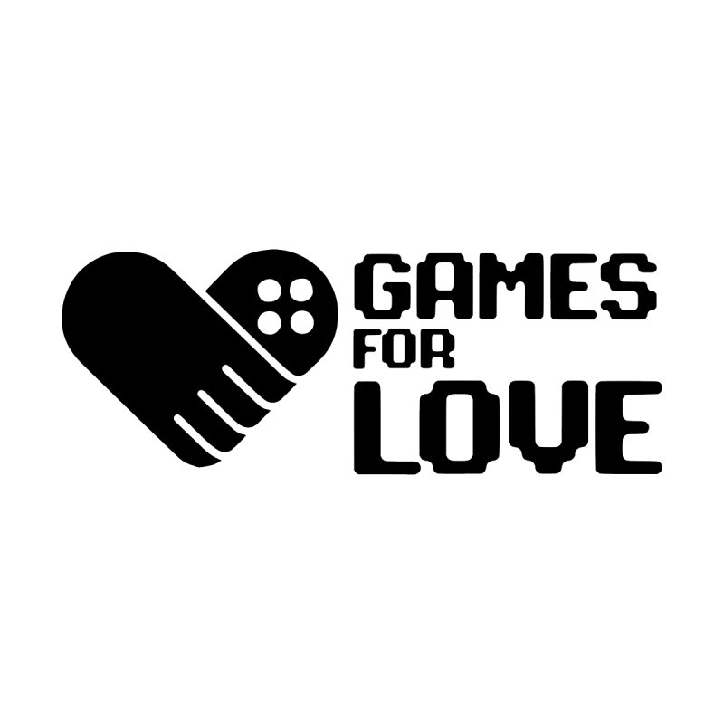 Men's GFL Logo w/ Side Text- Black Men's Pullover Hoody by Games For Love