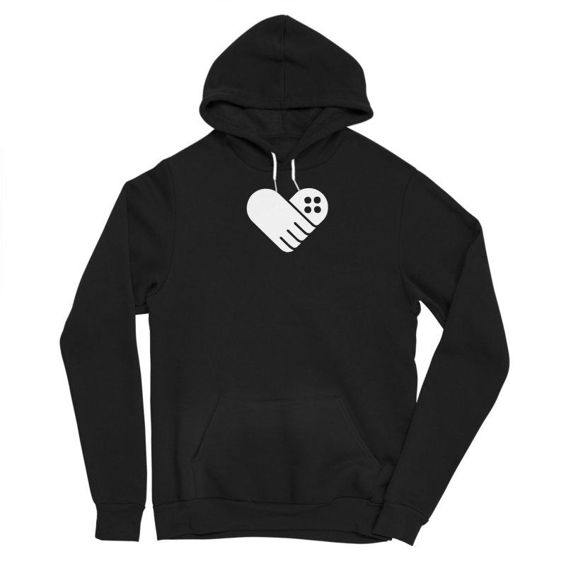 Women's GFL Heart Logo- White Women's Pullover Hoody by Games For Love