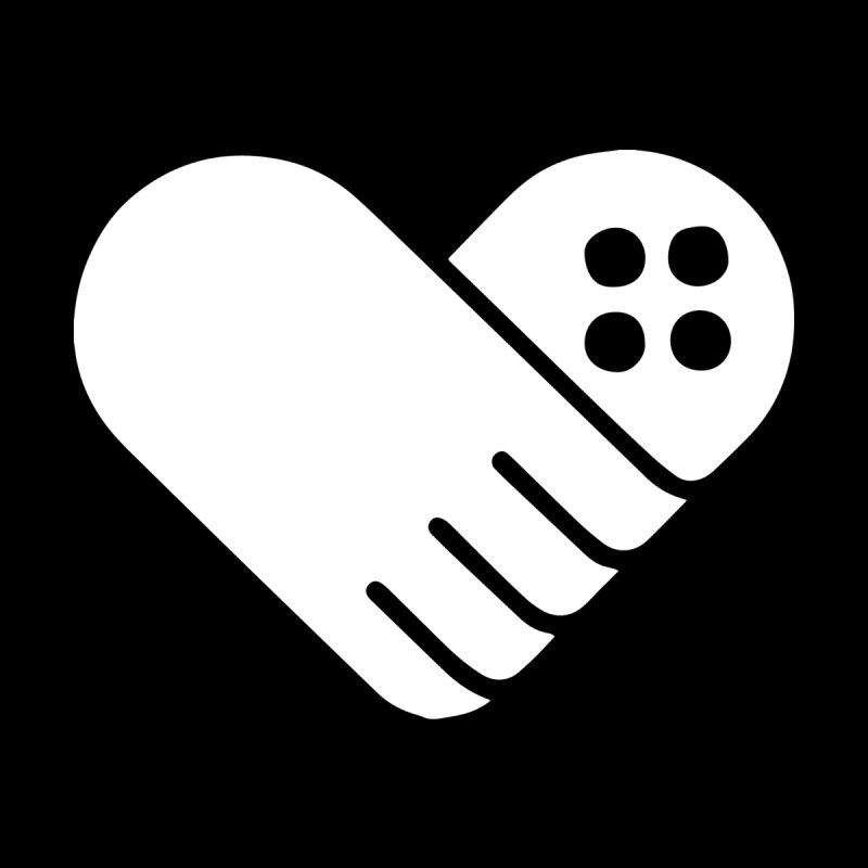 Kid's GFL Heart Logo- White Kids Baby T-Shirt by Games For Love