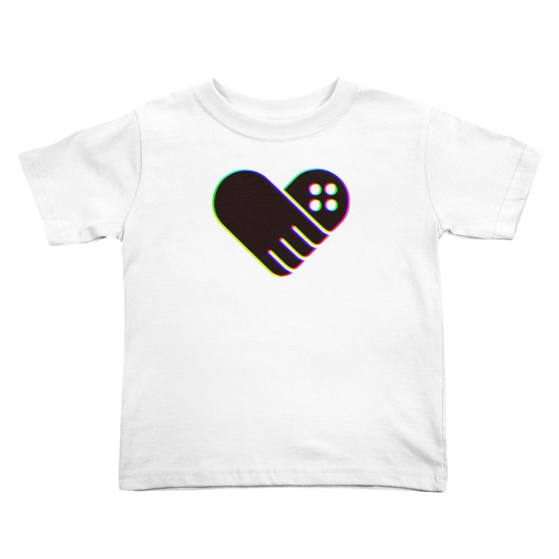Kid's GFL Heart Logo- Color Kids Toddler T-Shirt by Games For Love